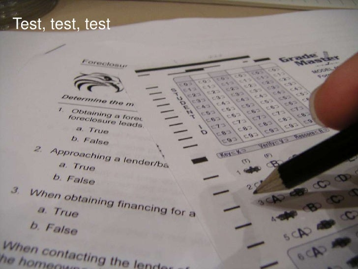 Test, test, test<br />