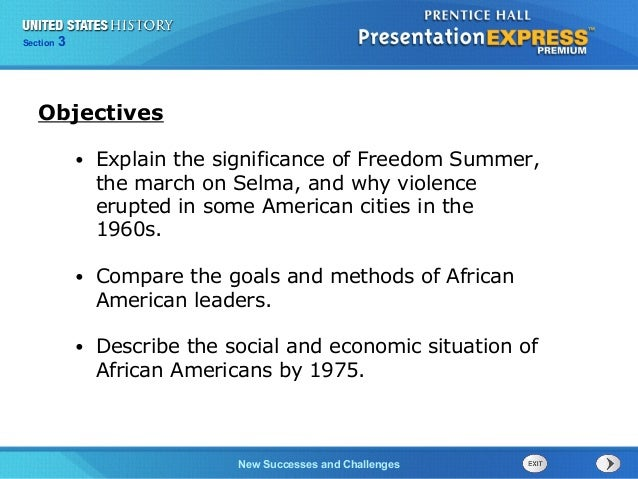 Chapter 25 Section 1 The Cold War Begins Section 3 New Successes and Challenges • Explain the significance of Freedom Summ...