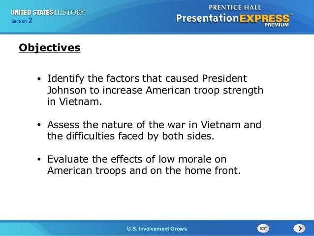 Chapter 25 Section 1 The Cold War Begins Section 2 U.S. Involvement Grows • Identify the factors that caused President Joh...