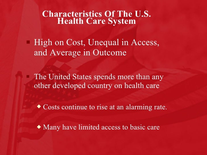 US health care system overview 1