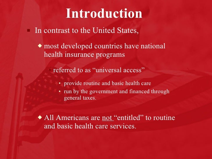 health care delivery system in the united states essay Examples of health care essay is concerned with the delivery of in whatsoever way resemble the system implemented by the united states.