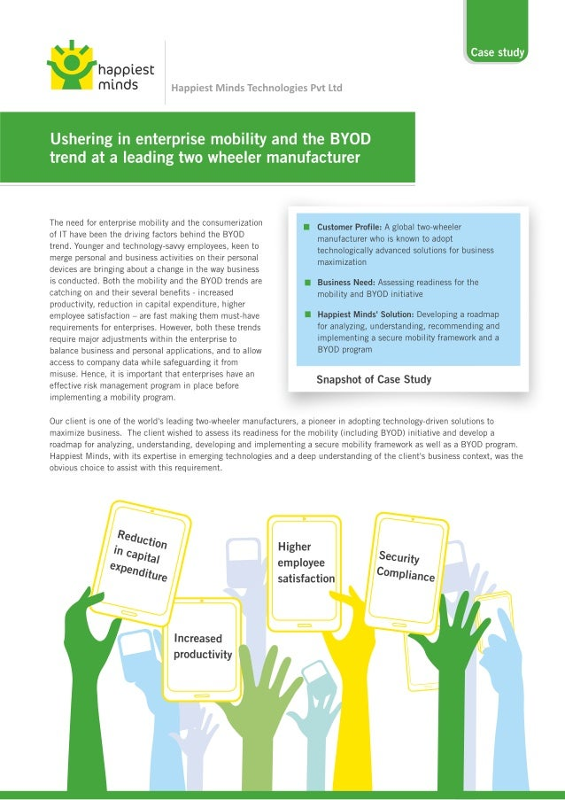 happiest       Case study  minds Happiest Minds Technologies Pvt Ltd  Ushering in enterprise mobility and the BYOD  trend ...