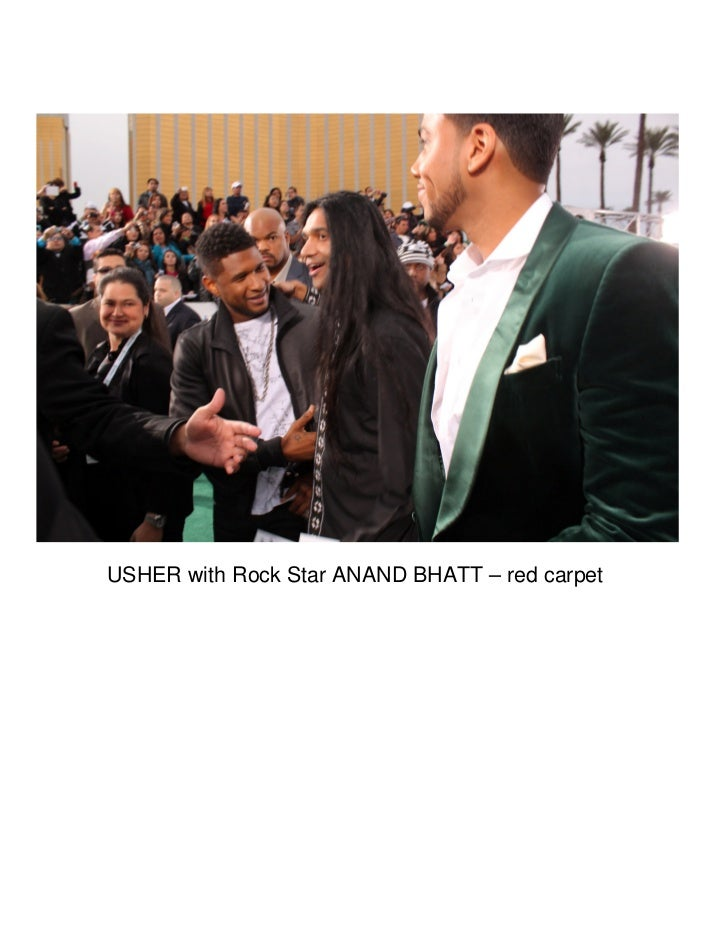 USHER with Rock Star ANAND BHATT – red carpet