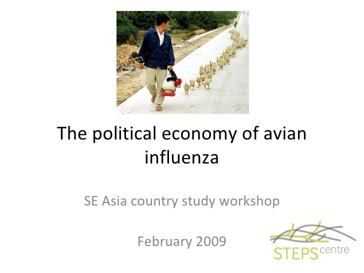 The political economy of avian influenza SE Asia country study workshop February 2009
