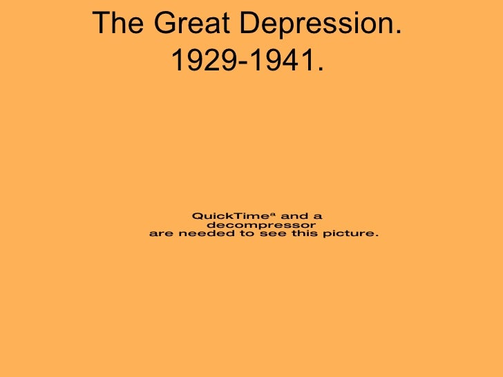 The Great Depression. 1929-1941.