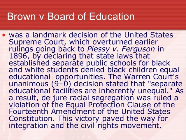a review of history of brown v board of education Get this from a library the brown v board of education trial [julia garbus] -- using primary and secondary sources, each volume provides background information.
