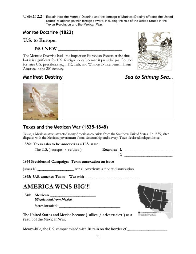 US History EOC Review Guide – Monroe Doctrine Worksheet