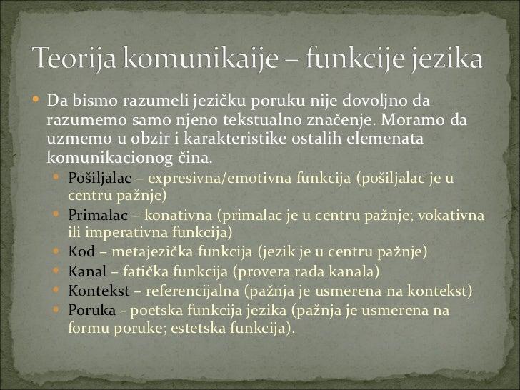 <ul><li>Da bismo razumeli jezičku poruku nije dovoljno da razumemo samo njeno tekstualno značenje. Moramo da uzmemo u obzi...