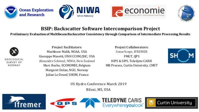Project Facilitators: Mashkoor Malik, NOAA, USA Giuseppe Masetti, UNH CCOM/JHC, USA Alexandre Schimel, NIWA, New Zealand M...