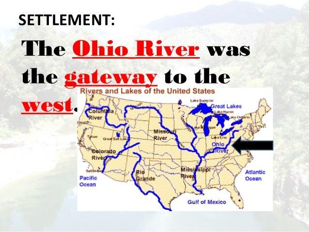 what five states border the ohio river