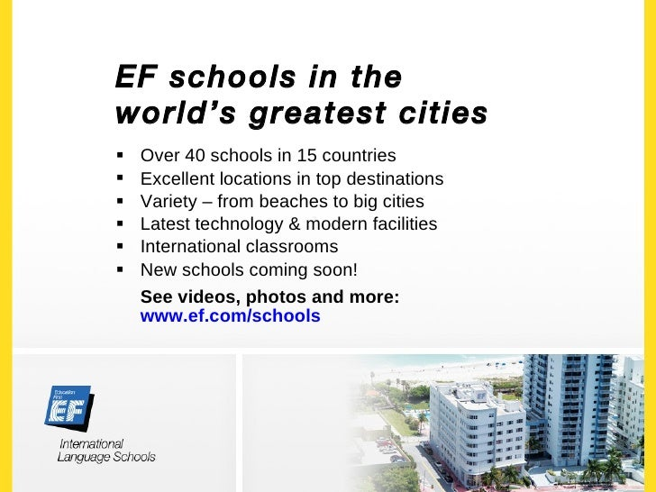 EF International Language Schools General Presentation - Top international languages in the world