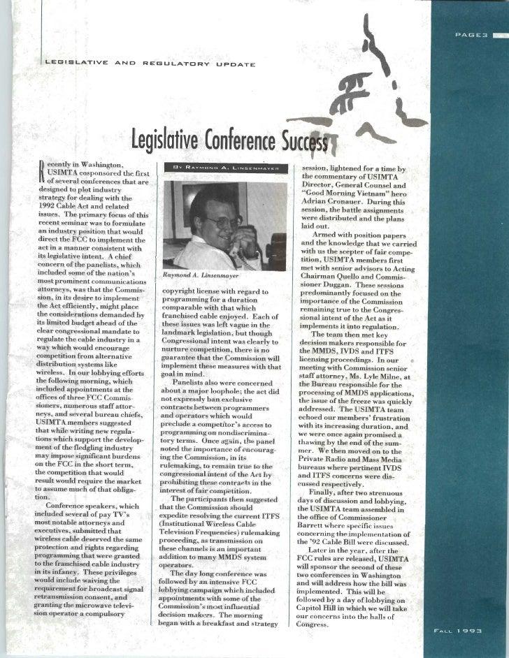 USIMTA NEWSLETTER FALL 1993 Slide 3