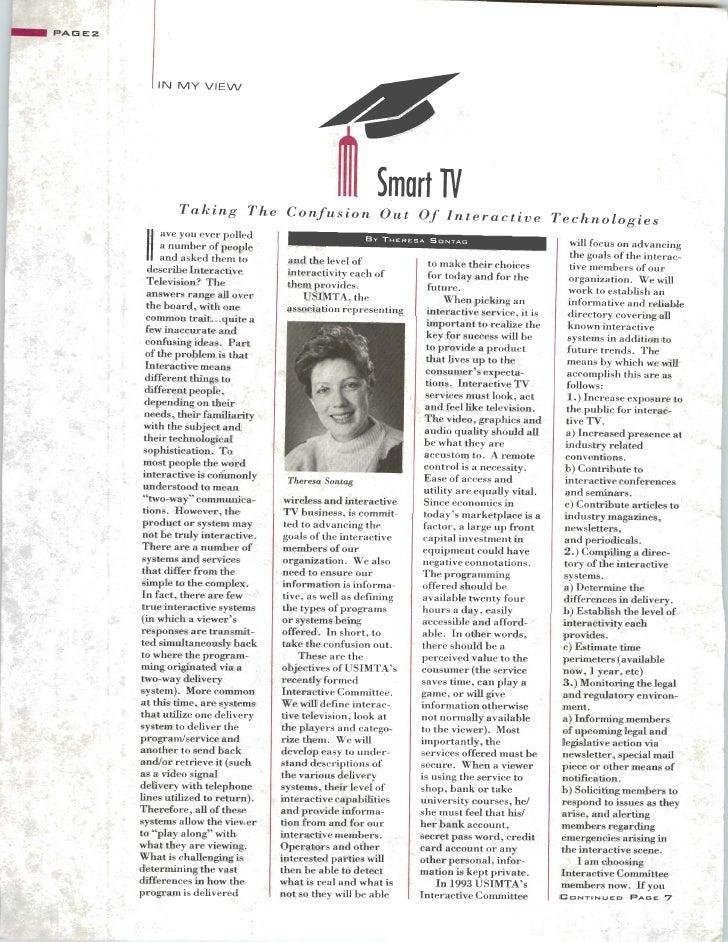 USIMTA NEWSLETTER SPRING 1993 Slide 2