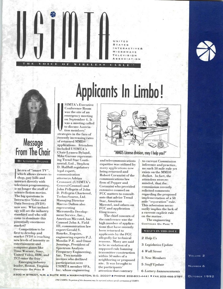 USIMTA NEWSLETTER FALL 1992
