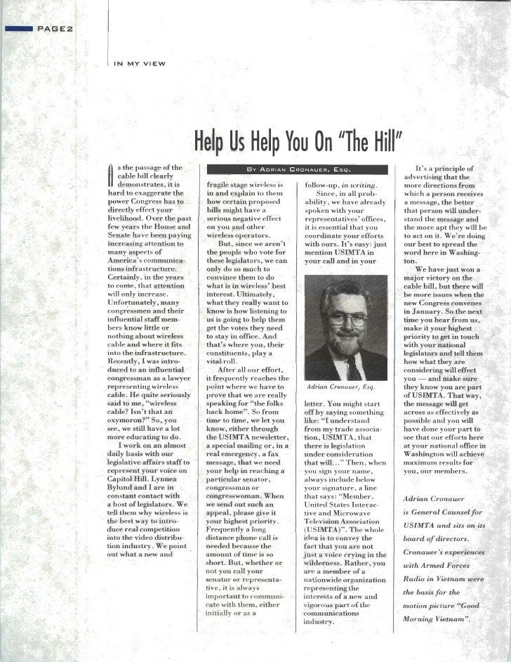 USIMTA NEWSLETTER FALL 1992 Slide 2