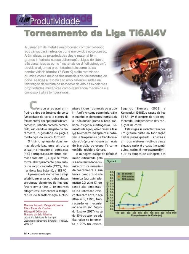 O Mundo da Usinagem16 Marcos Roberto Vargas Moreira Elias Alves da Cunha Hideyuki Okimura Marcos Valério Ribeiro Laboratór...