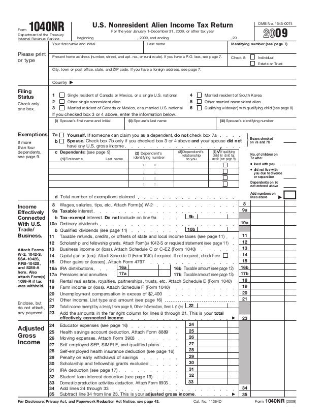 The 6-page US income tax form for non residents that boxing champ Man…