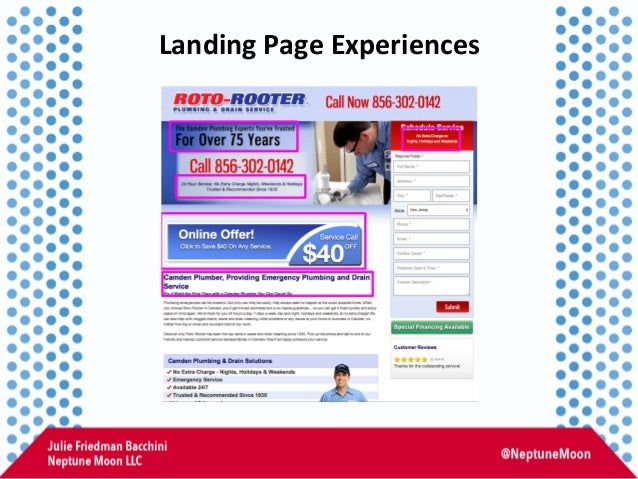 Landing  Page  Experiences