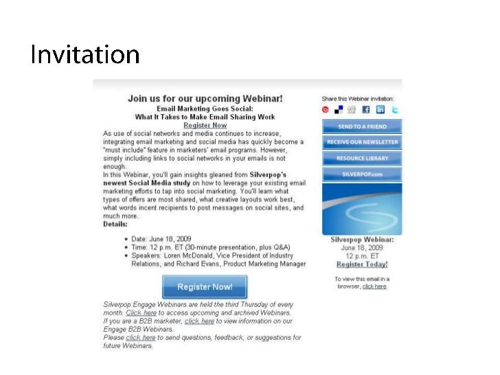 Webinar invitation samples romeondinez using email to promote webinars stopboris Choice Image
