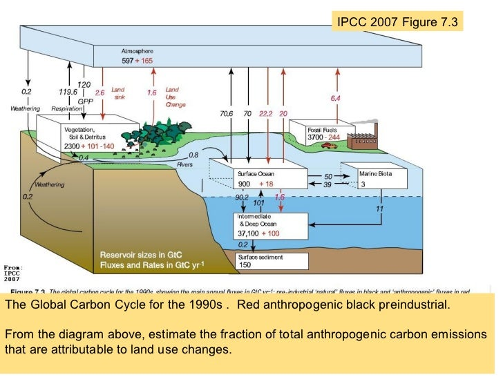 Using a mass balance model to understand carbon dioxide and its conne ipcc 2007 figure 73 7 ipcc 2007 figure 73the global carbon cycle ccuart Gallery