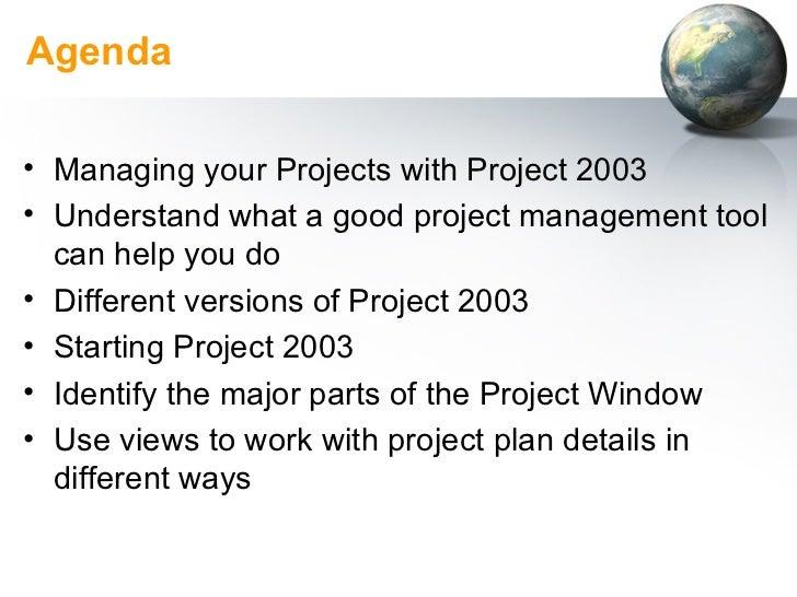 Using Microsoft Project 2003 Slide 2