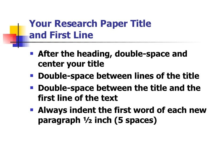 mla research paper double spaced
