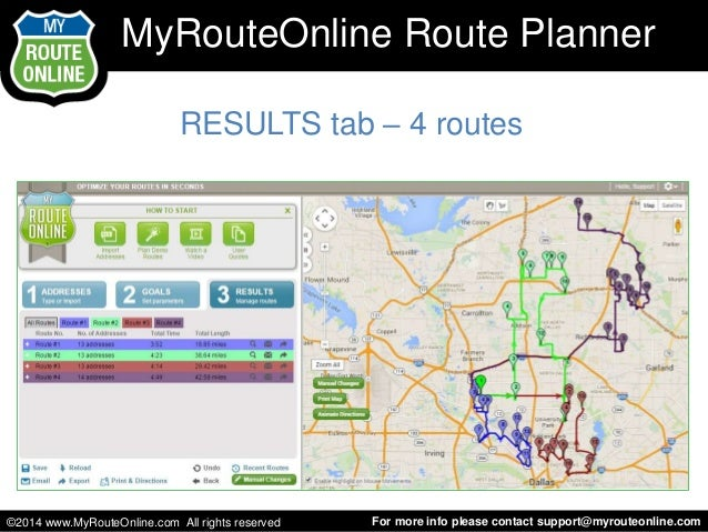 Learn how to use MyRouteOnline Route Planner to plan your routes