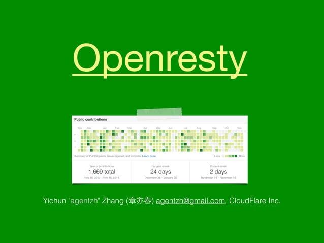 "Openresty  Yichun ""agentzh"" Zhang (章亦春) agentzh@gmail.com, CloudFlare Inc."