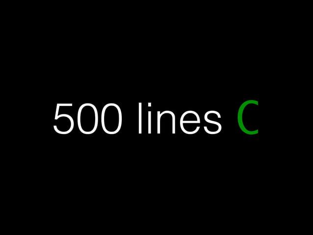 500 lines C