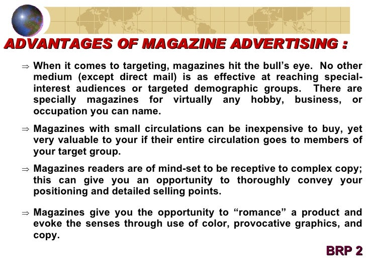 advantages of magazine advertising