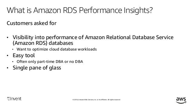 Using Performance Insights to Optimize Database Performance (DAT402) …