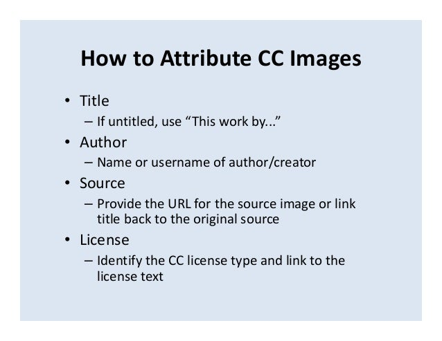 using photos licensed under creative commons