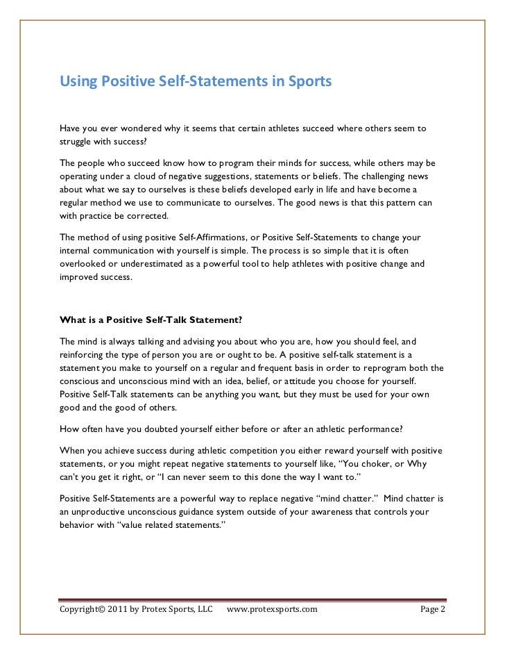 how to self talk in sport