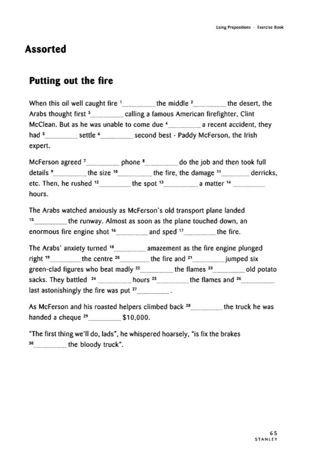 Using prepositionsexercises – Por and Para Worksheet