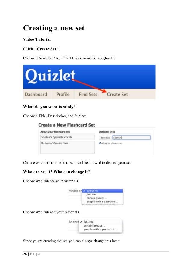 Using quizlet