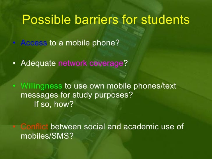 Learning and teaching using mobile phones