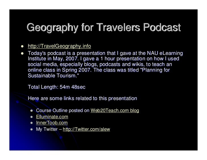 Using Social Software For Online Classes - Slidecast Slide 2
