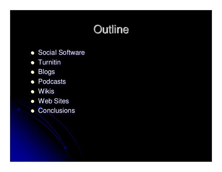 Using Social Software For Online Classes - Slidecast Slide 3