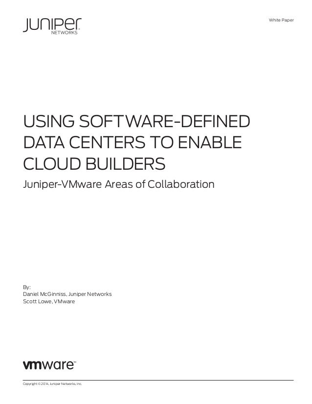 USING SOFTWARE-DEFINED DATA CENTERS TO ENABLE CLOUD BUILDERS
