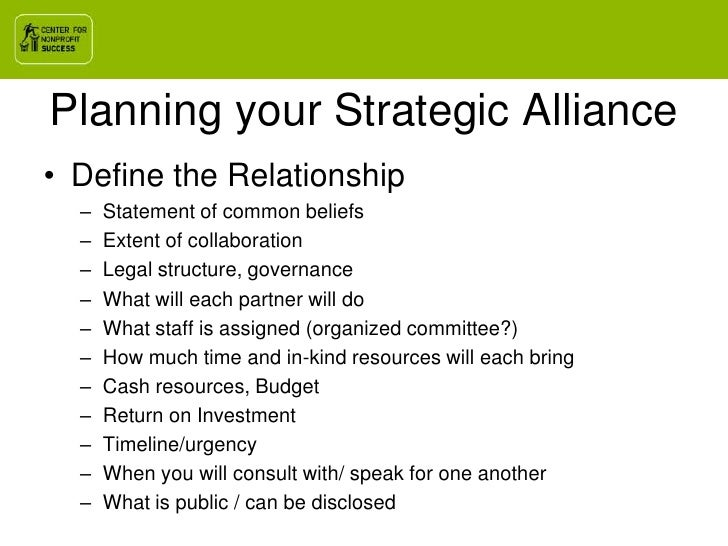 Using Strategic Alliances To Open Doors June172010 – Letter of Intent Business Partnership