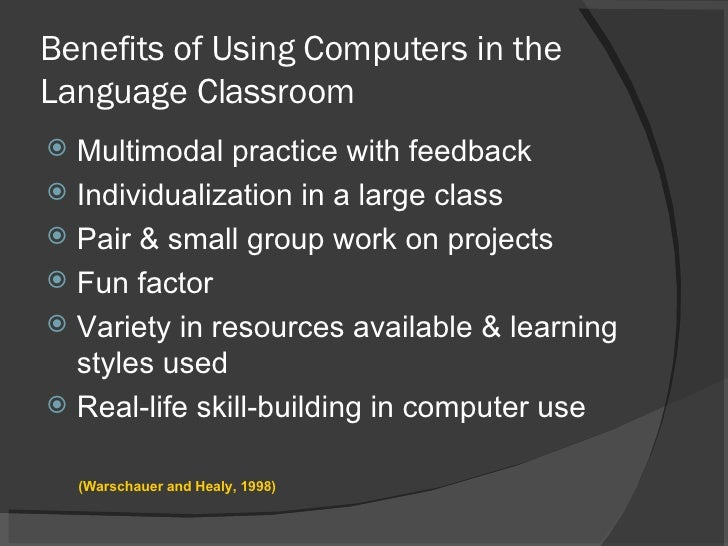 the benefits of using a computer system essay Essay on computer and its advantages and disadvantages  the other components of a computer system includes speakers,  the advantages of computer are given below.