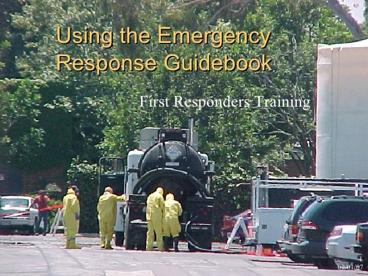 Using the Emergency Response Guidebook First Responders Training