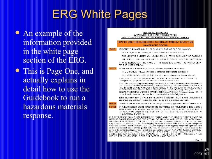 what is the emergency response guidebook