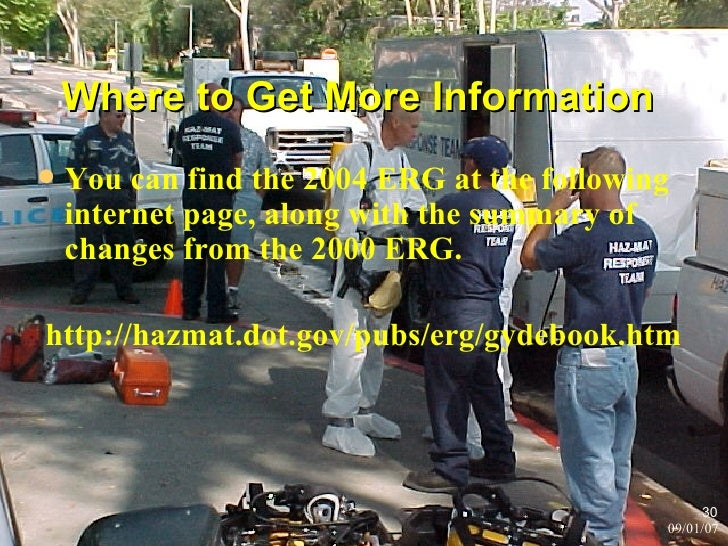 Use guide 111 in the emergency response guidebook?