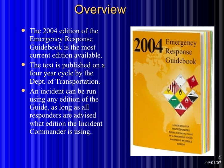 Using the Current Emergency Response Guidebook Training ...