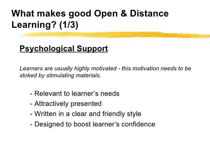 Distant learning dissertation