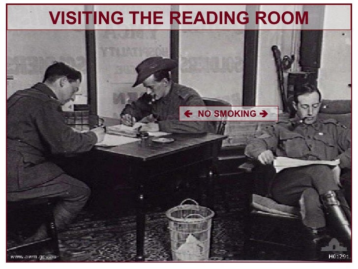 VISITING THE READING ROOM    NO SMOKING  