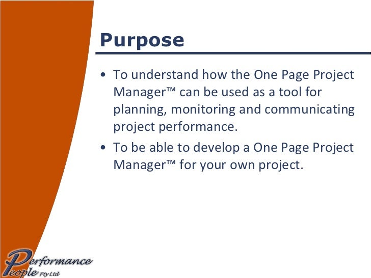 onepage project manager