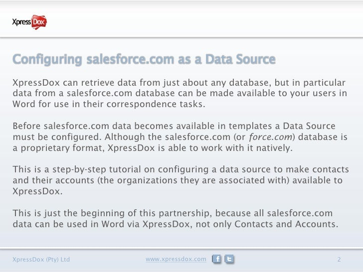 Using Your Salesforce Data in Microsoft Word Slide 2