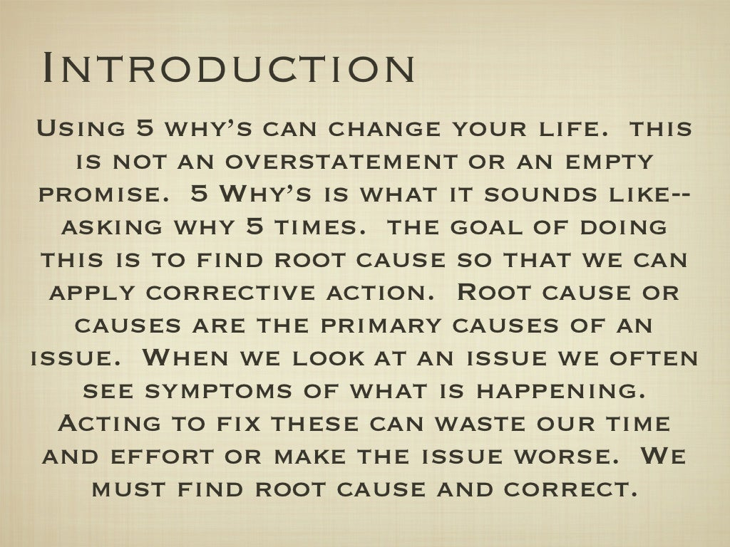 how to find the root cause of a problem